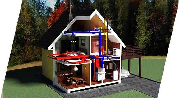 Схема водоснабжения внутри пжилого дома